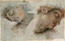 Cristofano Roncalli - Two Studies of a Head