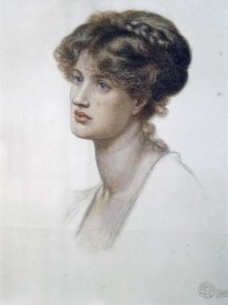 Dante Gabriel Rossetti - Portrait of Mrs. William J. Stillman