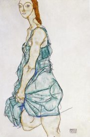 Egon Schiele - Upright Standing Woman