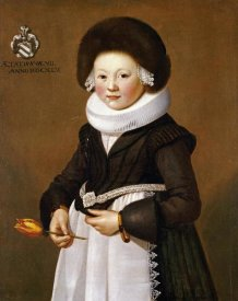 School of Saxony - Portrait of a Girl of The Staude Family