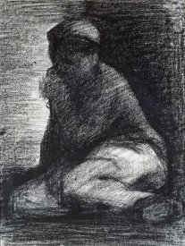 Georges Seurat - A Young Man Crouching