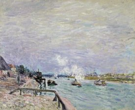 Alfred Sisley - The Seine at Grenelle - Wet Weather