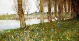 John George Sowerby - The Amber Vale, a Host of Golden Daffodils