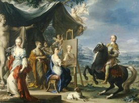 Ignaz Stern - Equestrian Portrait of a Nobleman