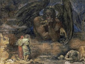 Henry John Stock - Dante and Virgil Encounter Lucifer In Hell