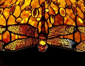 Tiffany Studios - Detail of An Important Dichroic Dragonfly