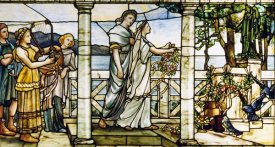 Tiffany Studios - Group of Maidens