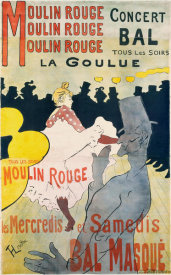 Henri Toulouse-Lautrec - Moulin Rouge, La Goulue