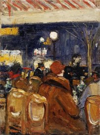 Lesser Ury - In The Caf??