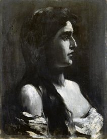 Lesser Ury - A Young Girl In Profile