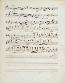 Ludwig Van Beethoven - Manuscripts of The Quartet In a Minor Opus 132