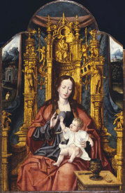 Joos Van Cleve - The Virgin and Child Enthroned