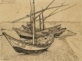 Vincent Van Gogh - Boats On The Beach at Saintes-Maries-De-La-Mer