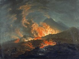Jacques Antoine Volaire - Vesuvius Erupting at Night