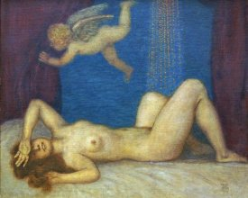 Franz Von Stuck - Danae and The Golden Shower