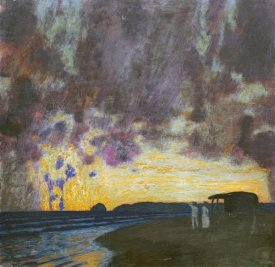 Franz Von Stuck - Sunset By The Sea
