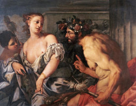 Antonio Zanchi - Hercules and Omphale
