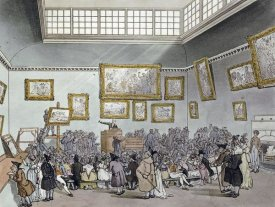 R. Ackermann - Colored Aquatint of Christies Auction Room
