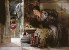Sir Lawrence Alma-Tadema - Welcome Footsteps (Well-Known Footsteps)