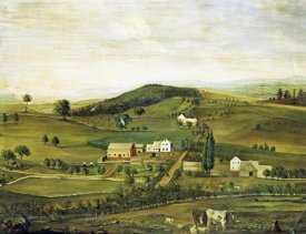 American School - An American Farm: Fall View From The East
