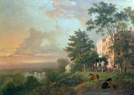 George Barrett - A View From The Terrace, Richmond Hill