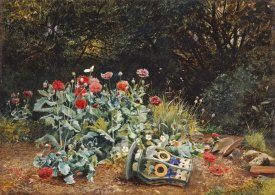 David Bates - Summer Flowers In a Quiet Corner of a Garden