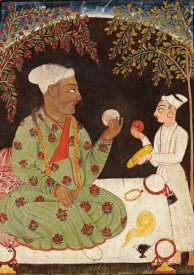 Bilaspur - Portrait of Raja Dhiraj Pal of Basholi