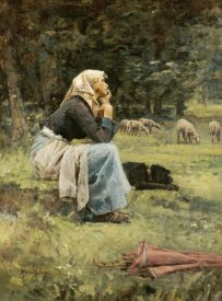 Pierre Billet - A Young Shepherdess