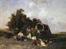 Pal Bohm - A Gypsy Encampment