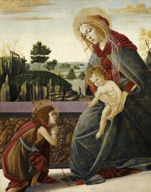 Sandro Botticelli - The Madonna and Child With The Young Saint John The Baptist