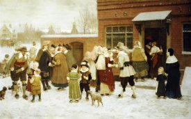 George Henry Boughton - New Years Day, New Amsterdam