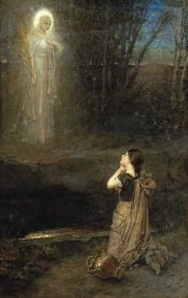 George Henry Boughton - The Vision at The Martyr's Well