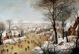 Pieter Bruegel the Elder - A Winter Landscape With Skaters and a Bird Trap