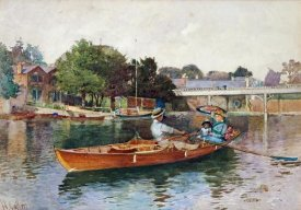Hector Caffieri - A Boating Party On The Thames at Cookham