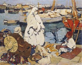 Leon Cauvy - The Port of Algiers
