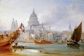 George Chambers - A View of Saint Paul's From The Thames