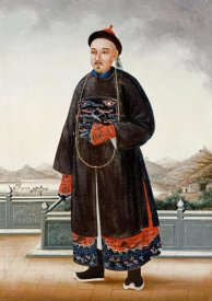 Chinese School - An Elegantly Dressed Chinese Hong Merchant
