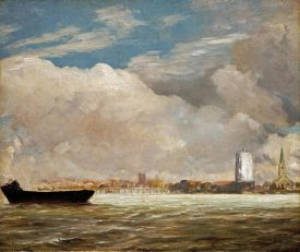 John Constable - On The Thames Near Battersea Bridge