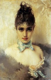 Vittorio Corcos - An Elegant Beauty
