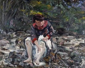Lovis Corinth - Girl In The Brook