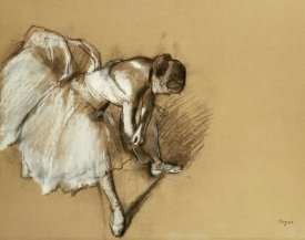 Edgar Degas - Dancer Adjusting Her Shoe