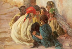 Alphonse Etienne Dinet - Arab Children Playing