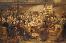 Arthur Percy Dixon - An Edinburgh Flower Market