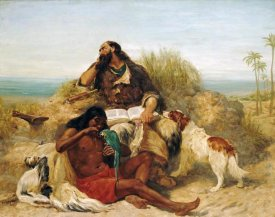 John Charles Dollman - Robinson Crusoe and His Man Friday