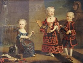 Francois-Hubert Drouais - A Group Portrait of a Girl