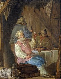 Louis Jean-Jacques Durameau - An Old Man Smoking