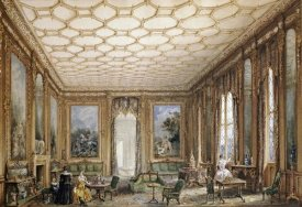 English School - View of a Jacobean-Style Grand Drawing Room