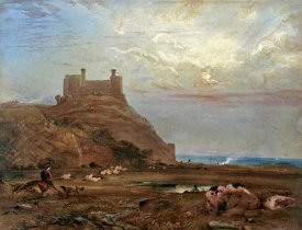 Anthony Vandyke Copley Fielding - Harlech Castle