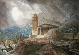 Joseph Michael Gandy - A Capriccio of a Roman Port During a Storm