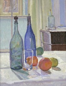 Spencer Frederick Gore - Blue and Green Bottles and Oranges